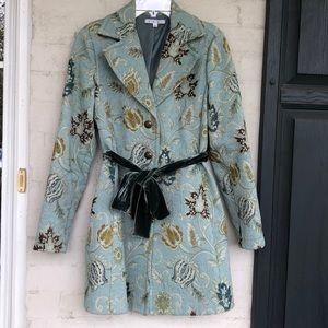 CAbi #371 velvet sash brocade spring coat